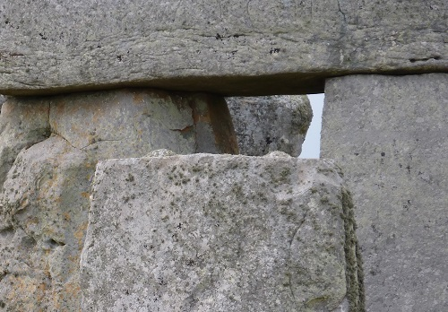 Close-up of part of Stonehenge